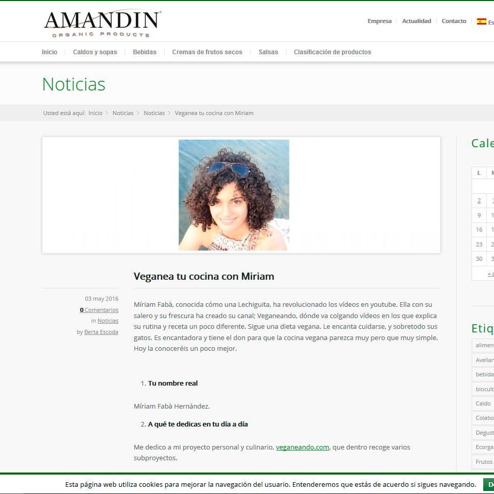 entrevista en Amandin productos organicos