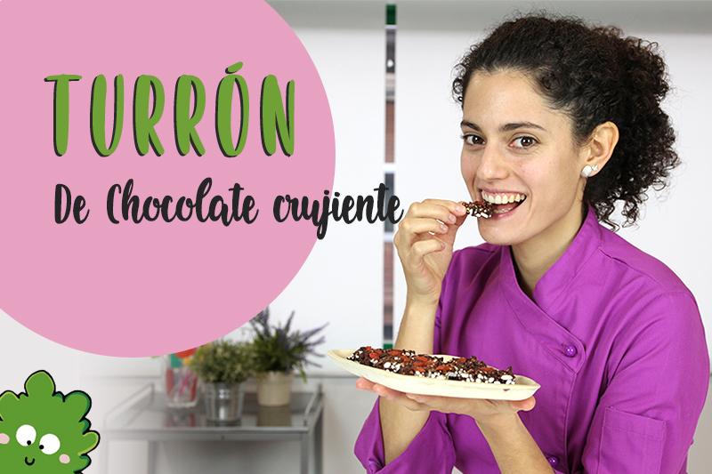 Turrón de chocolate crujiente