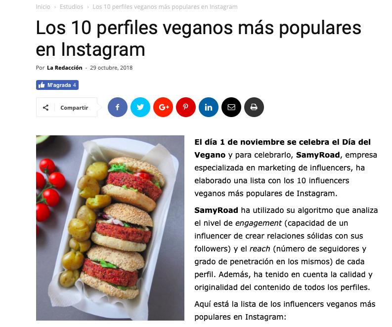 5. top 10 cuentas veganas