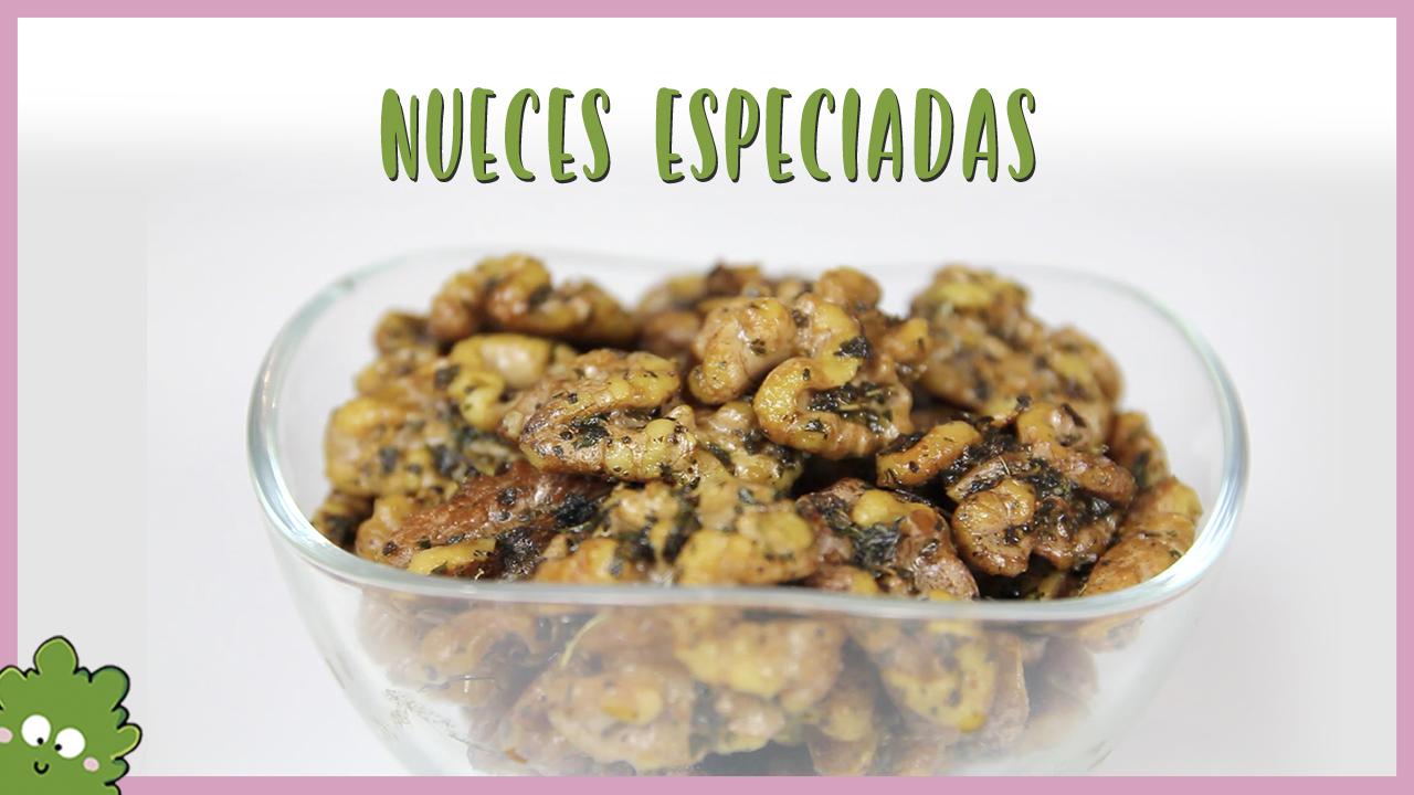 nueces especiadas aperitivo vegano fácil y rápido
